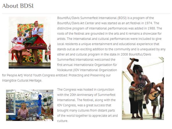 Bountiful Davis Arts Center Presents Summerfest International